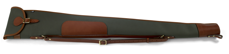 Shotgun Slip with Flap and Zip (Loden Green with Tan Leather)